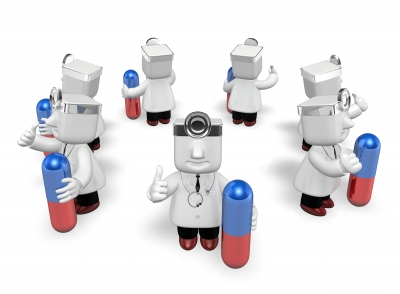3d doctor men with medicine capsule