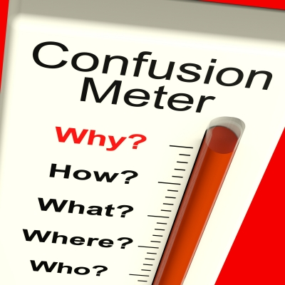 Confusion Meter Stock Image
