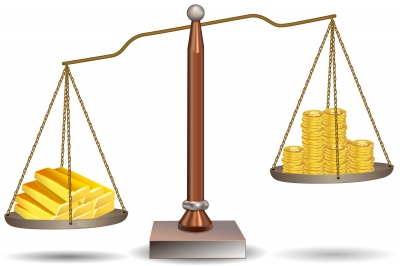 Balance With Coins Stock Image