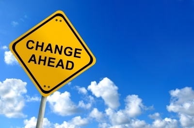 Change Ahead Sign Stock Photo