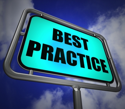 Best Practice Signpost Indicates Better And Efficient Procedures Stock Photo