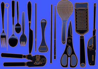 Assorted Kitchen Set Stock Photo